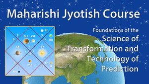 Image of jyotish chart with planets in various houses * view of earth from outer space